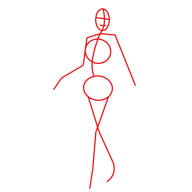 Learn easy to draw hanji zoe step 01