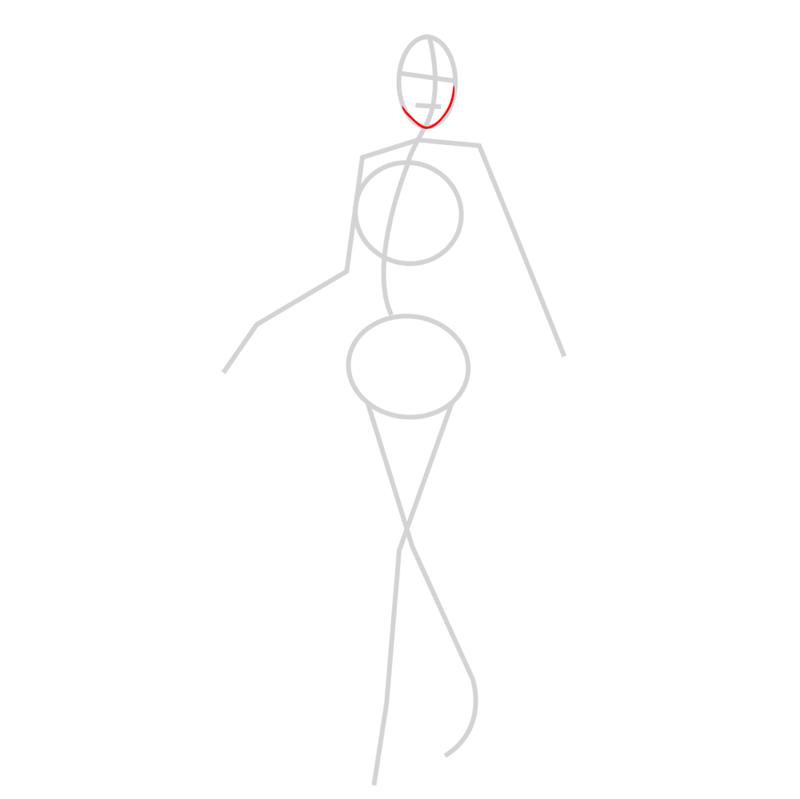 Learn easy to draw hanji zoe step 02