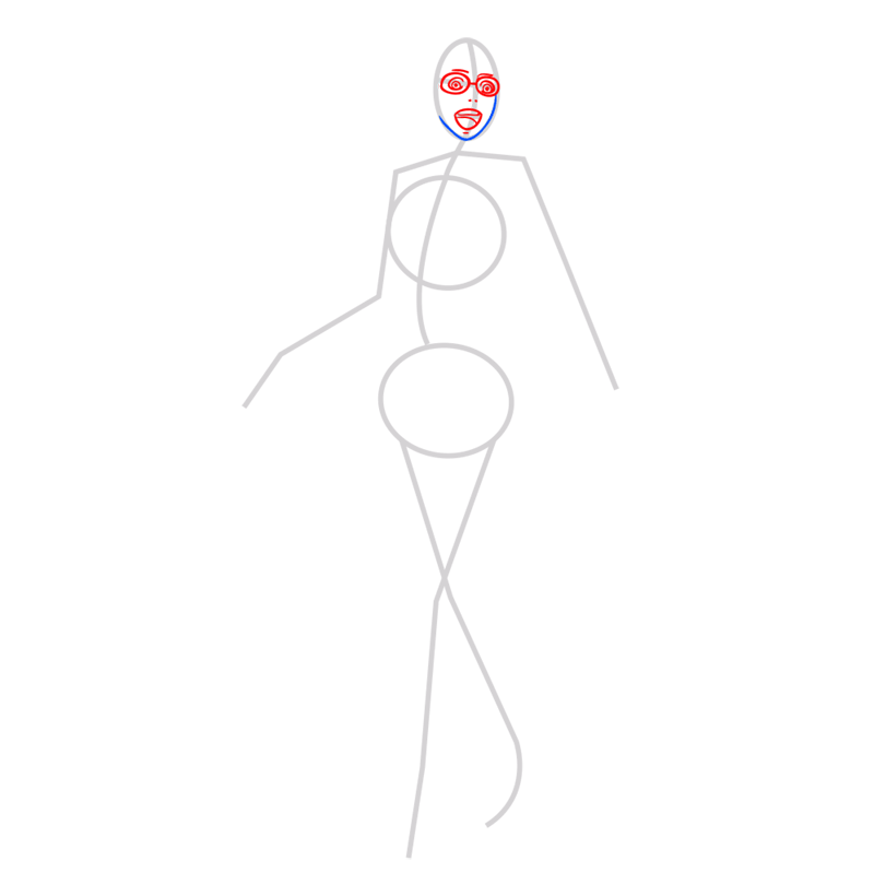 Learn easy to draw hanji zoe step 03