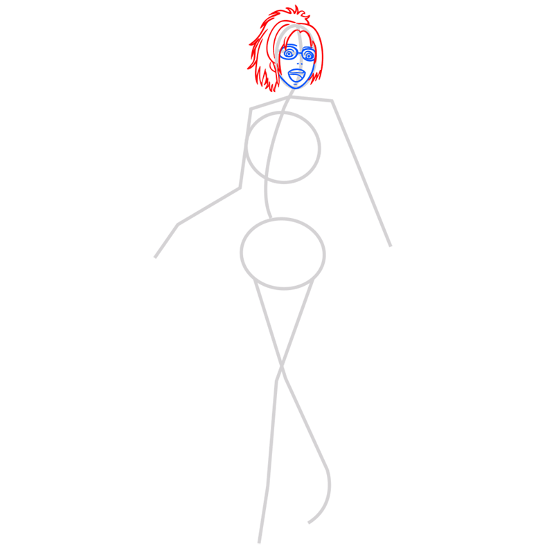 Learn easy to draw hanji zoe step 04