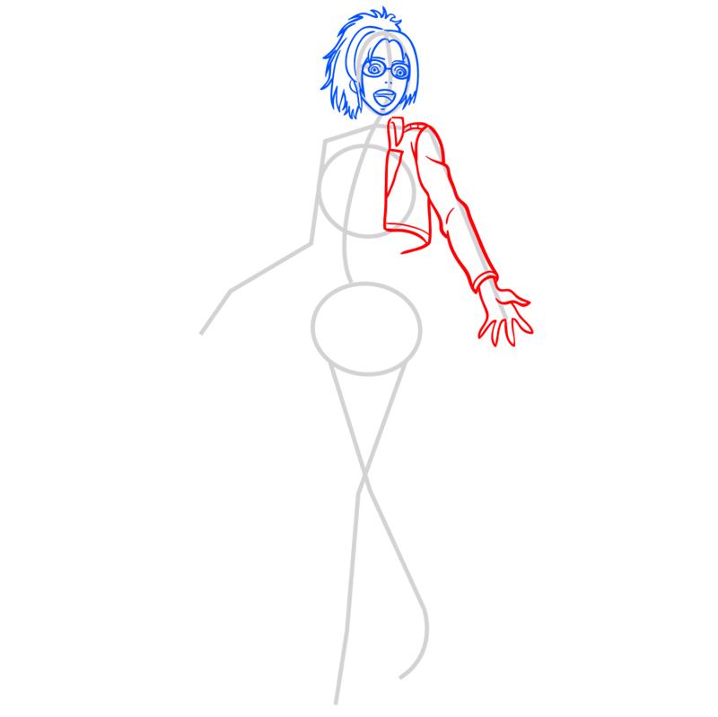 Learn easy to draw hanji zoe step 05