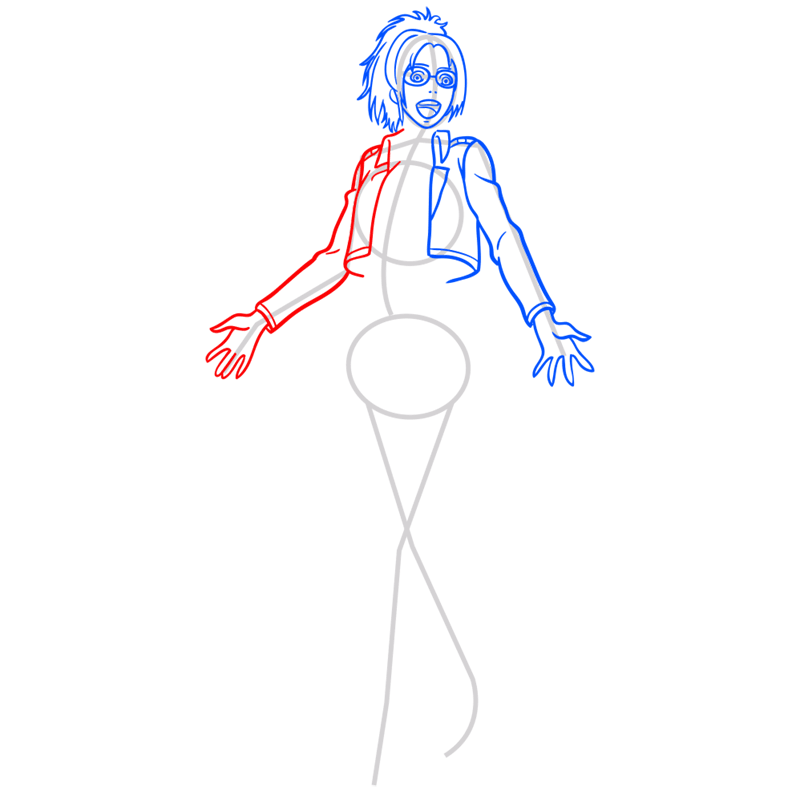 Learn easy to draw hanji zoe step 06