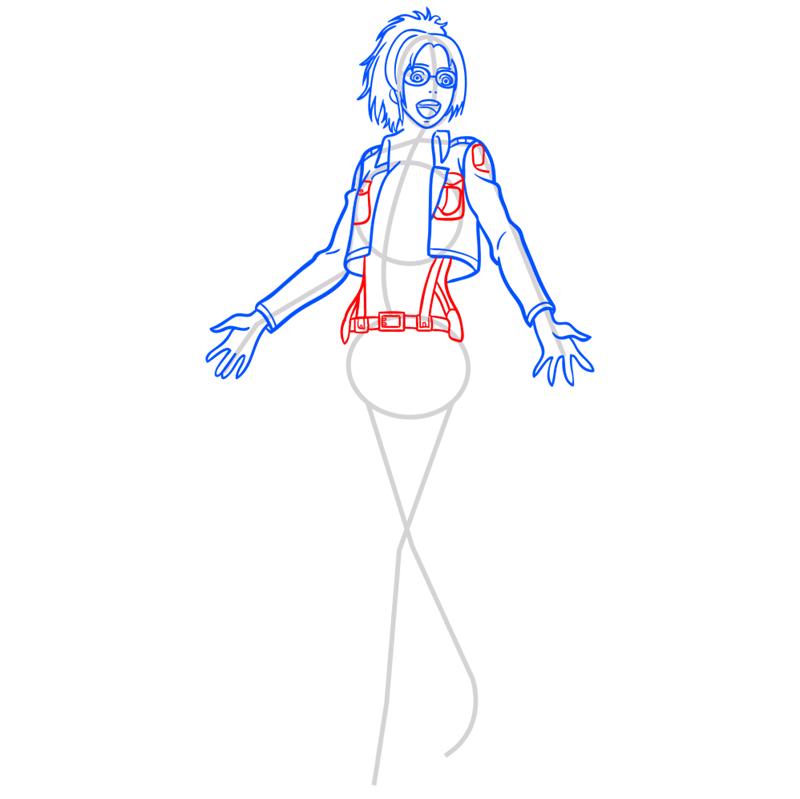 Learn easy to draw hanji zoe step 07