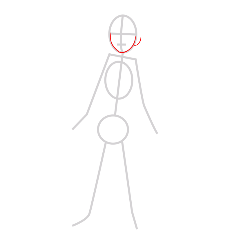 Learn easy to draw hiro hamada step 02