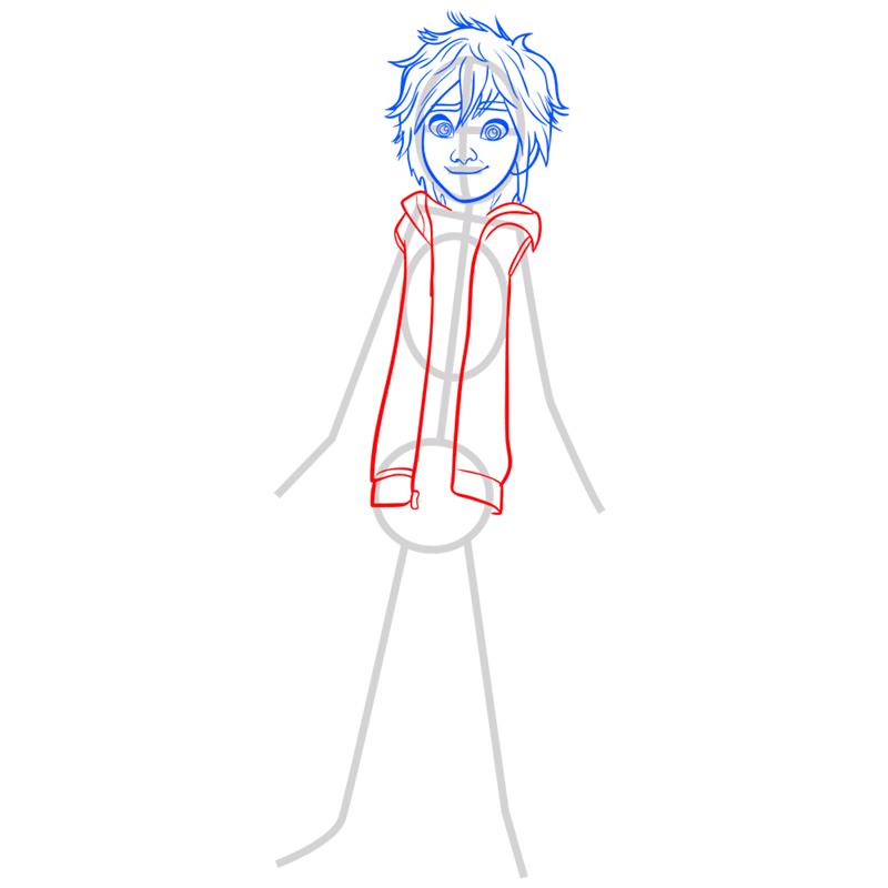 Learn easy to draw hiro hamada step 05
