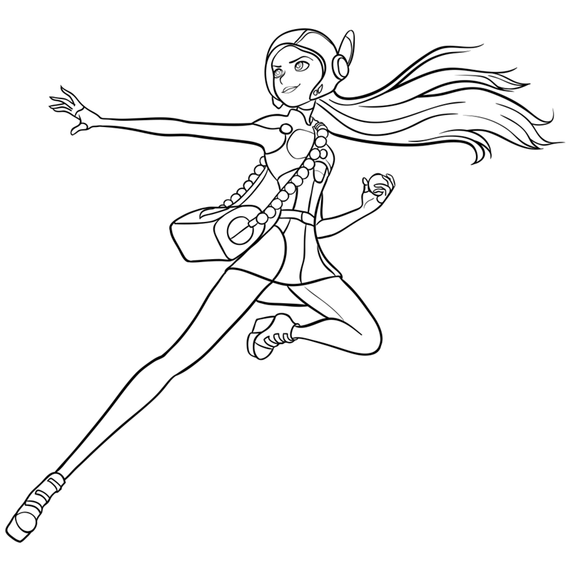 Learn easy to draw honey lemon in suit step 13