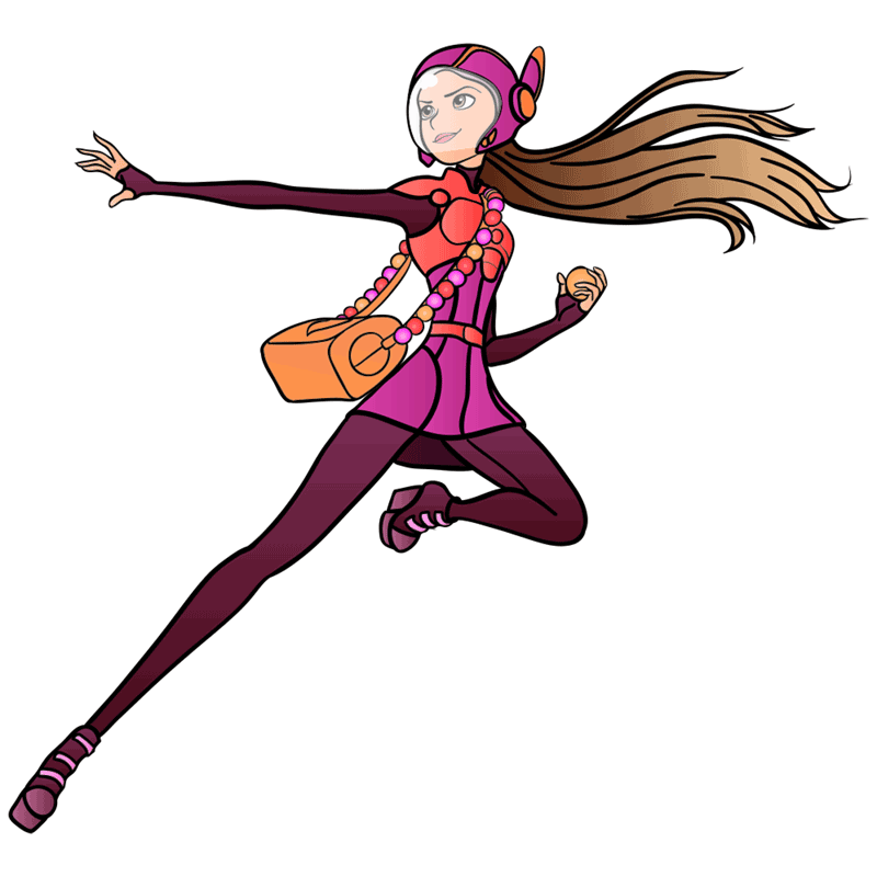 Learn easy to draw honey lemon in suit step 14