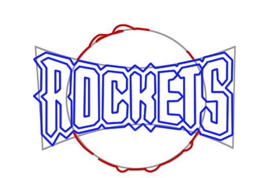 Learn easy to draw houston rockets step 06