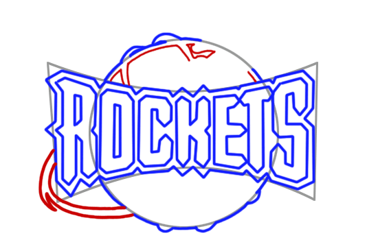 Learn easy to draw houston rockets step 07