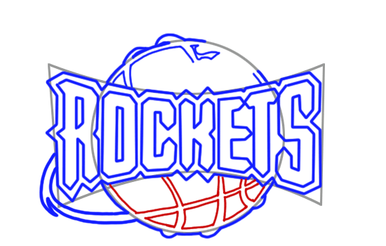 Learn easy to draw houston rockets step 08
