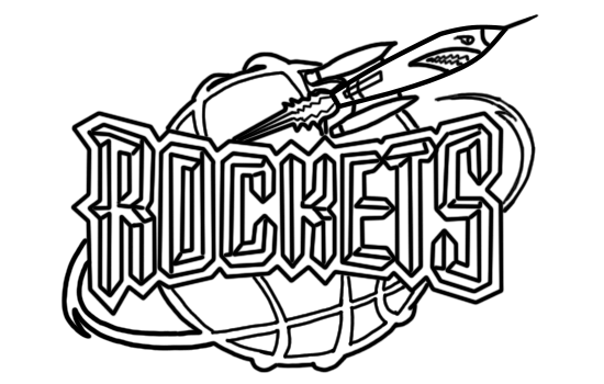 Learn easy to draw houston rockets step 13