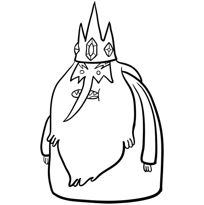 Learn easy to draw ice king step 09