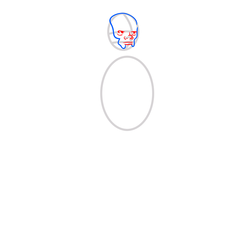 Learn easy to draw iroh step 03