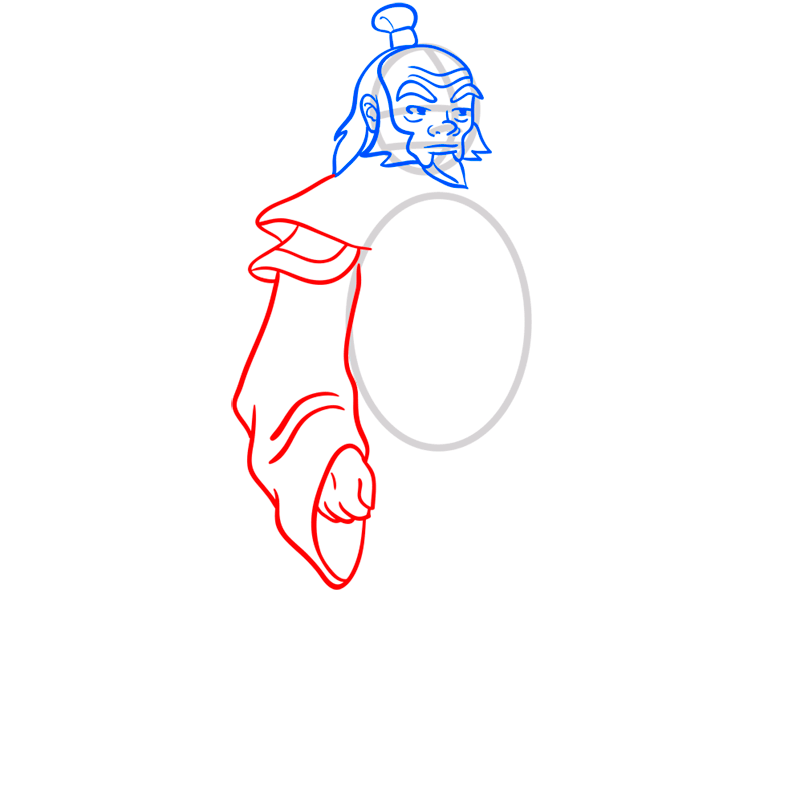 Learn easy to draw iroh step 06