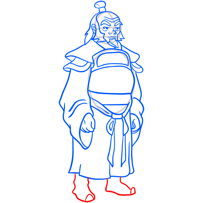 Learn easy to draw iroh step 10