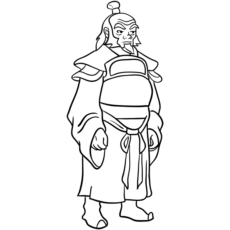 Learn easy to draw iroh step 11