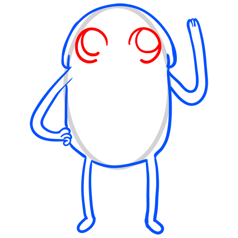 Learn easy to draw jake step 06