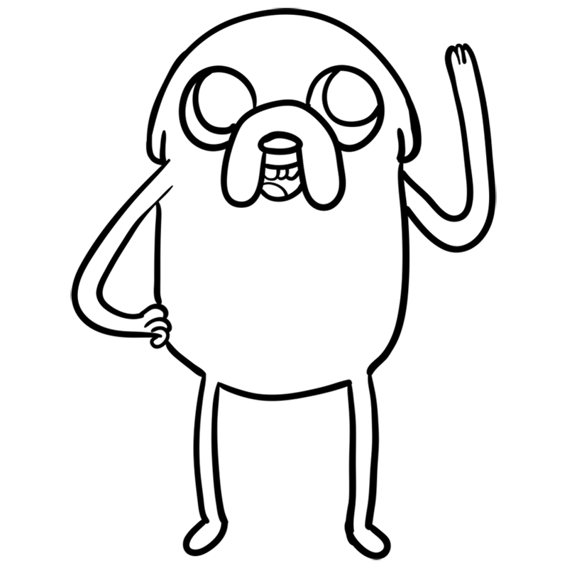 Learn easy to draw jake step 08