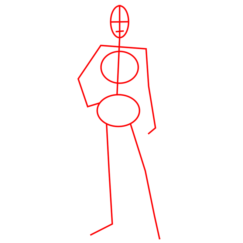 Learn easy to draw jean kirstein step 01
