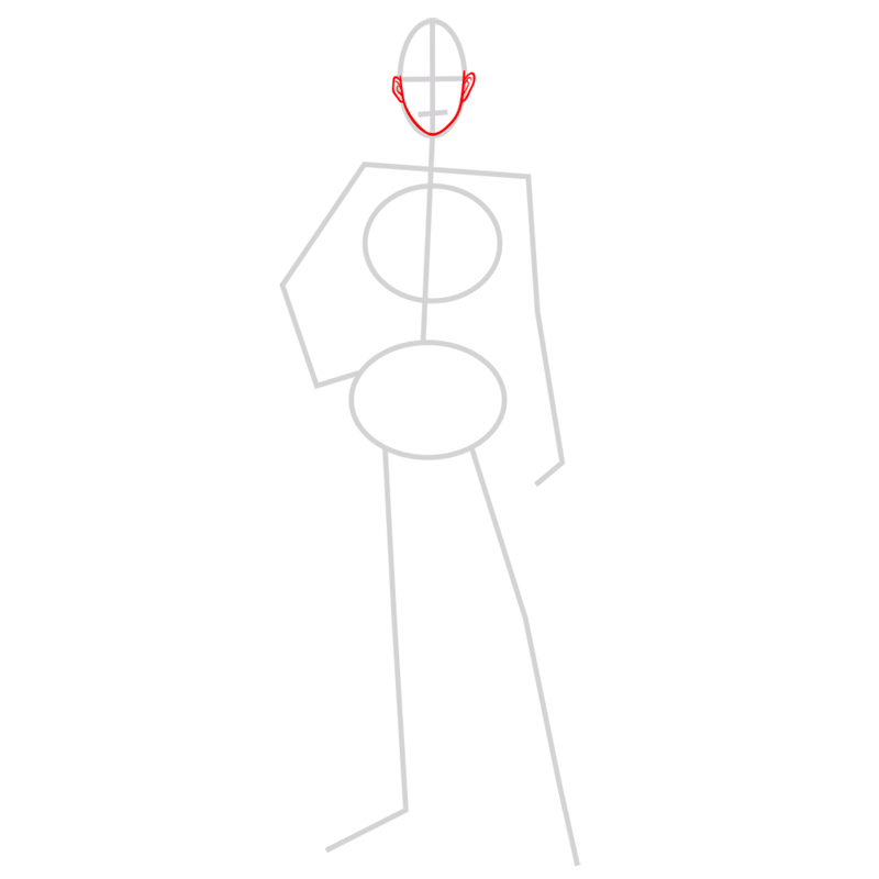 Learn easy to draw jean kirstein step 02