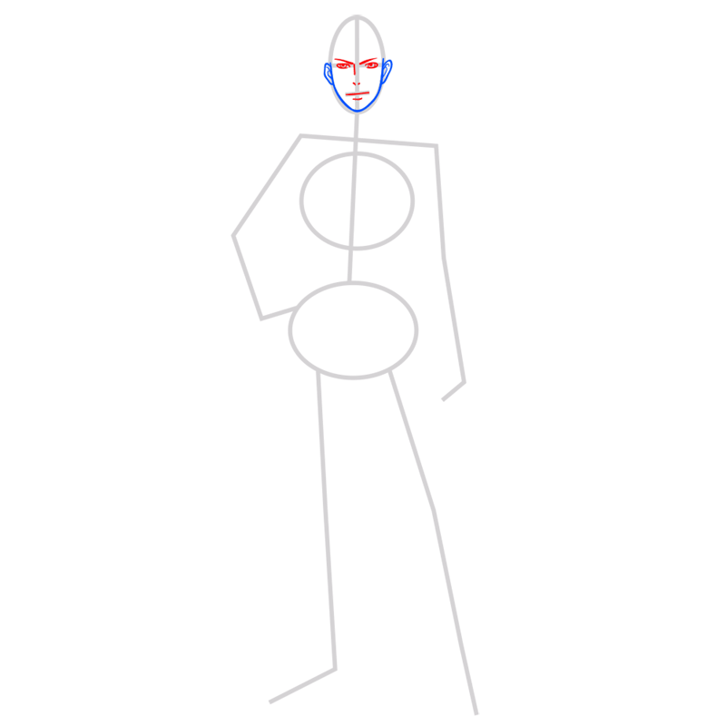 Learn easy to draw jean kirstein step 03