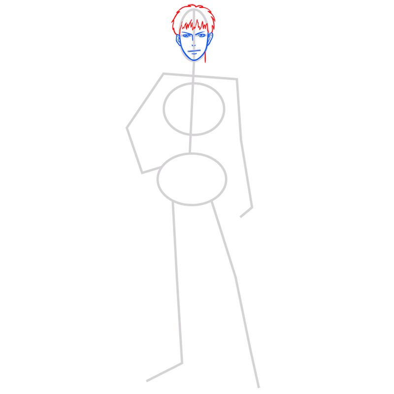Learn easy to draw jean kirstein step 04