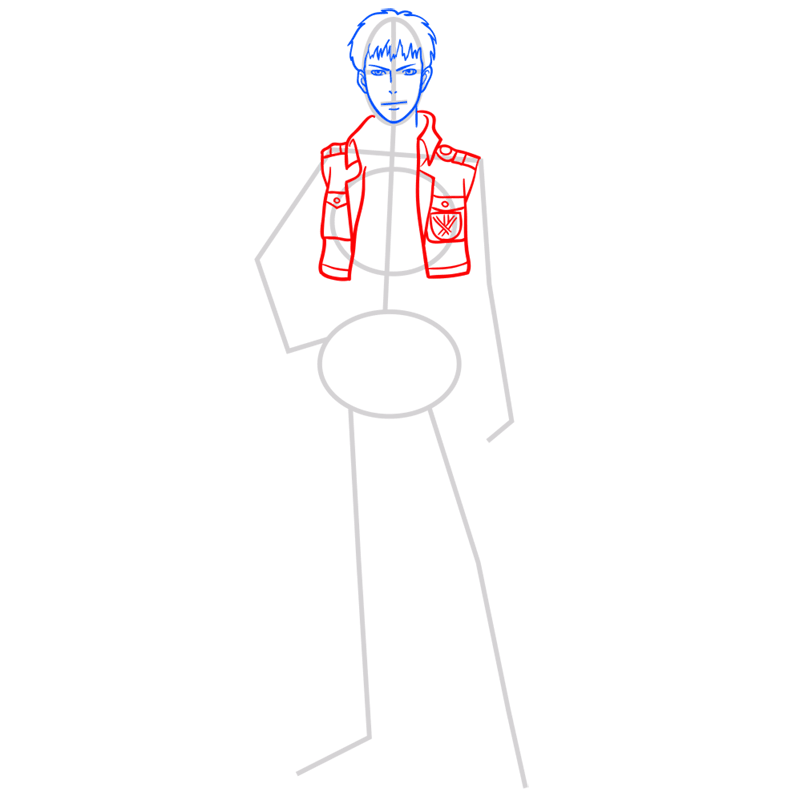 Learn easy to draw jean kirstein step 05