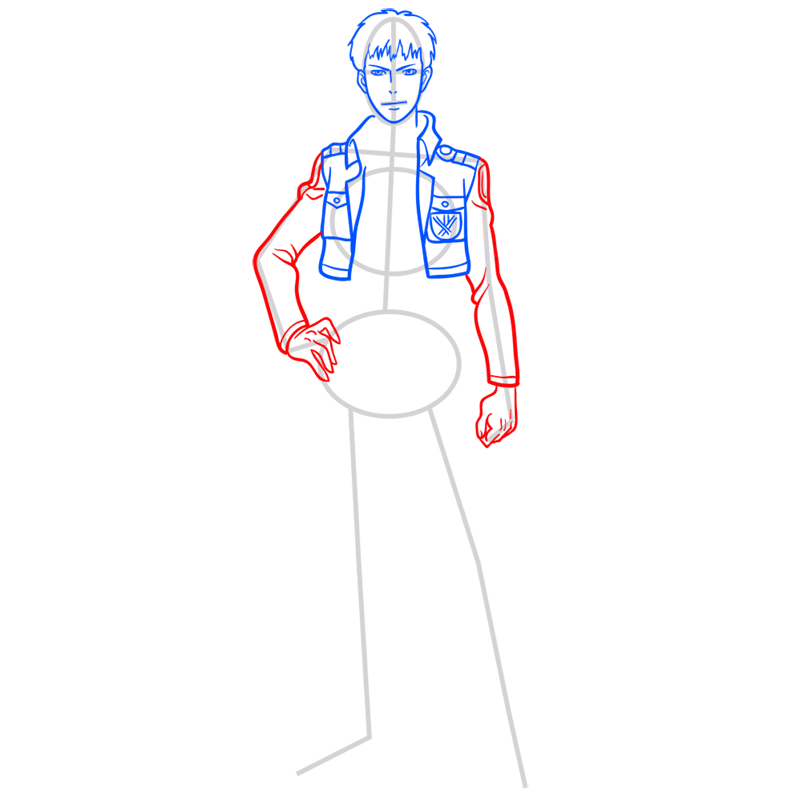Learn easy to draw jean kirstein step 06