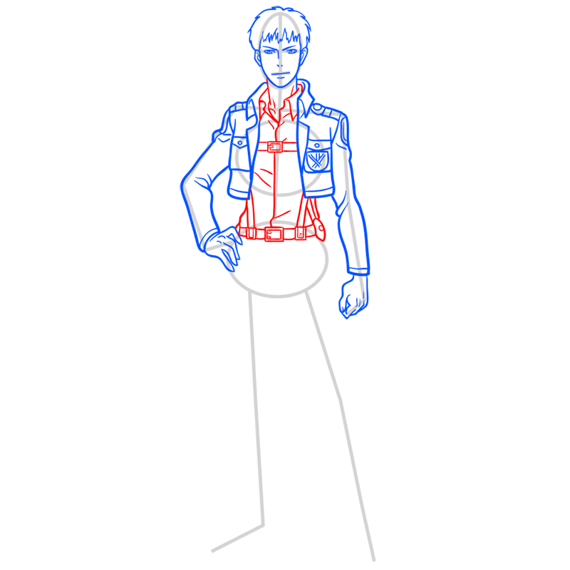 Learn easy to draw jean kirstein step 07