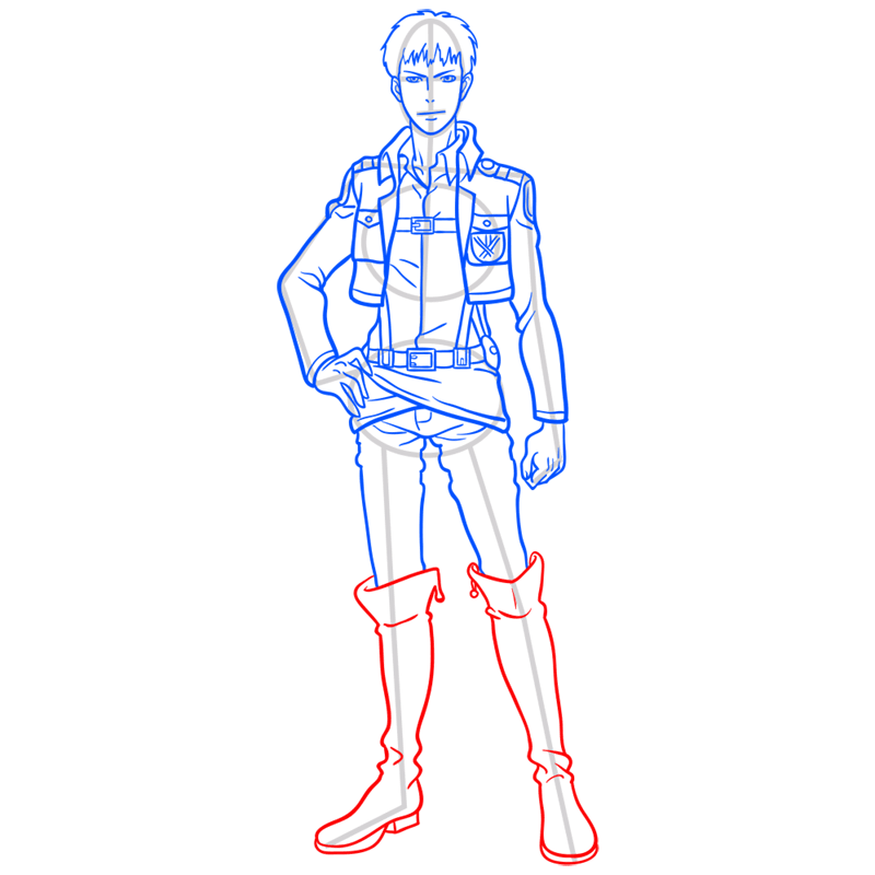 Learn easy to draw jean kirstein step 09