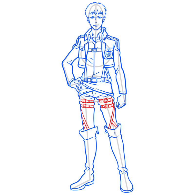 Learn easy to draw jean kirstein step 10