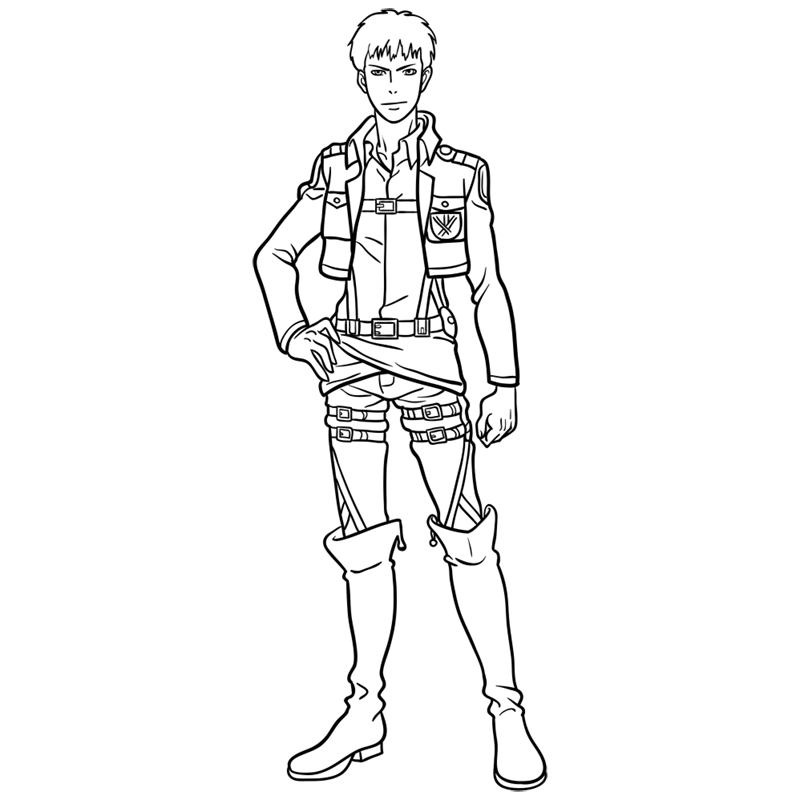 Learn easy to draw jean kirstein step 11