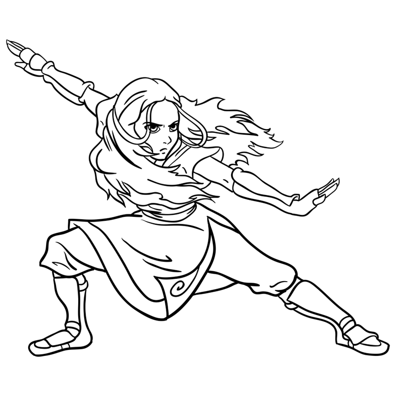 Learn easy to draw katara step 11