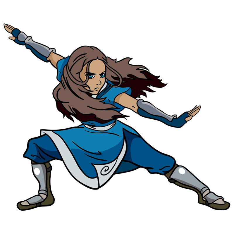 Learn easy to draw katara step 12