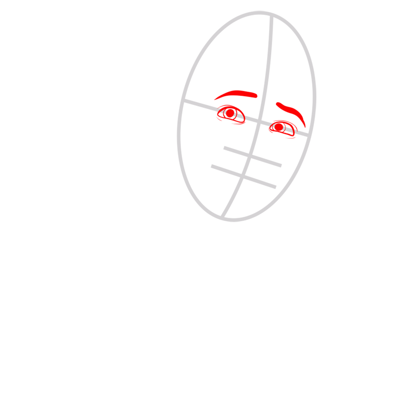 Learn easy to draw ken step 02