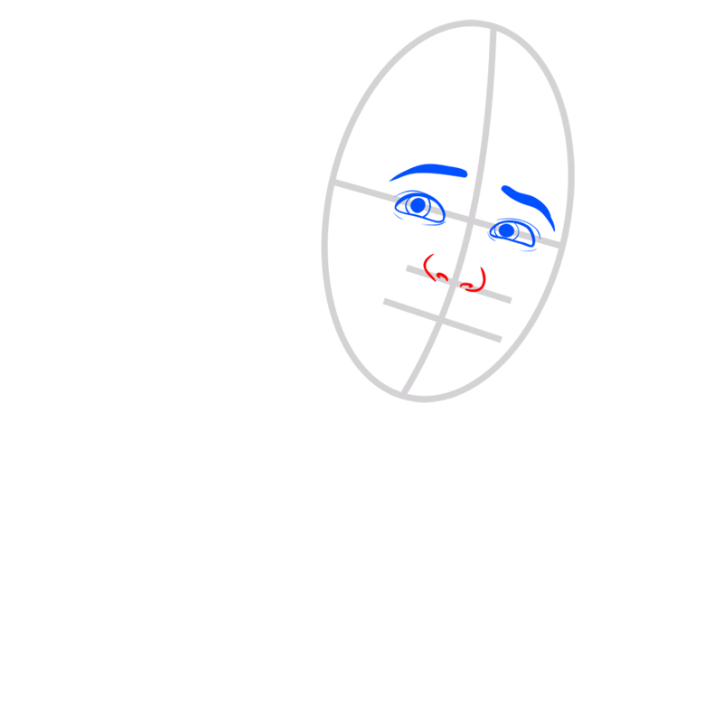 Learn easy to draw ken step 03