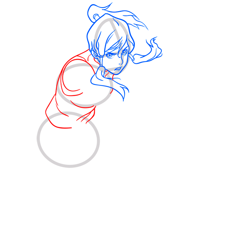 Learn easy to draw korra step 06