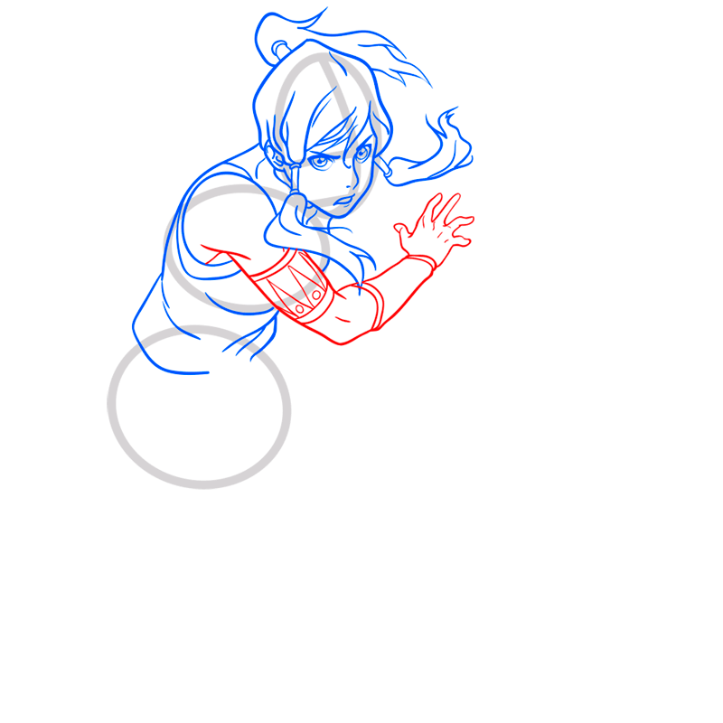 Learn easy to draw korra step 07