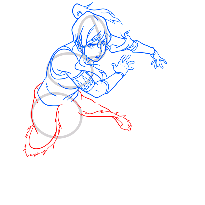 Learn easy to draw korra step 09