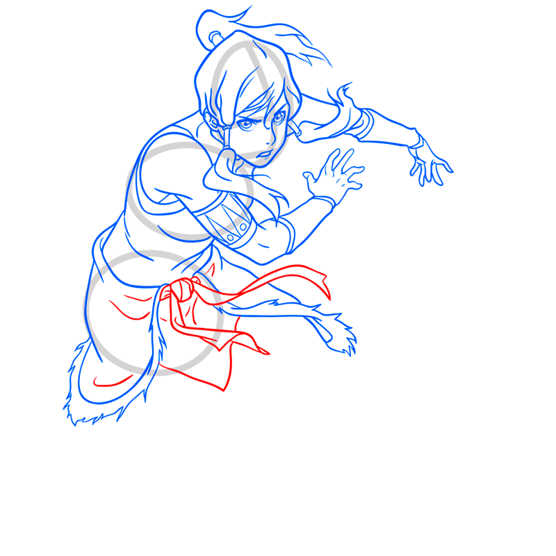 Learn easy to draw korra step 10