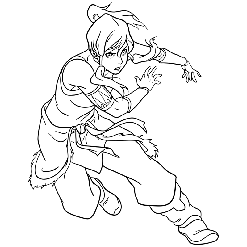 Learn easy to draw korra step 12