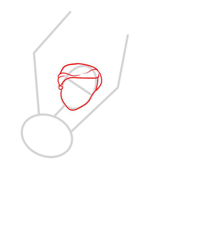 Learn easy to draw kristyn step 02