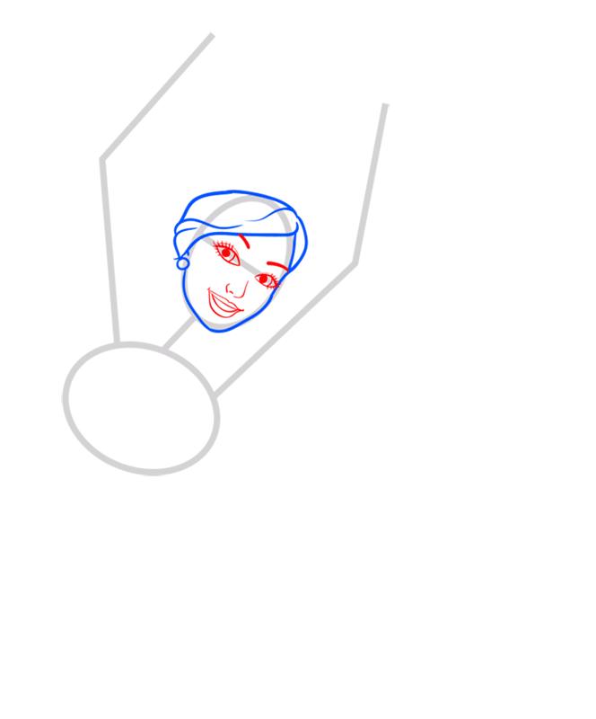 Learn easy to draw kristyn step 03