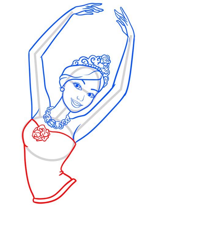 Learn easy to draw kristyn step 07