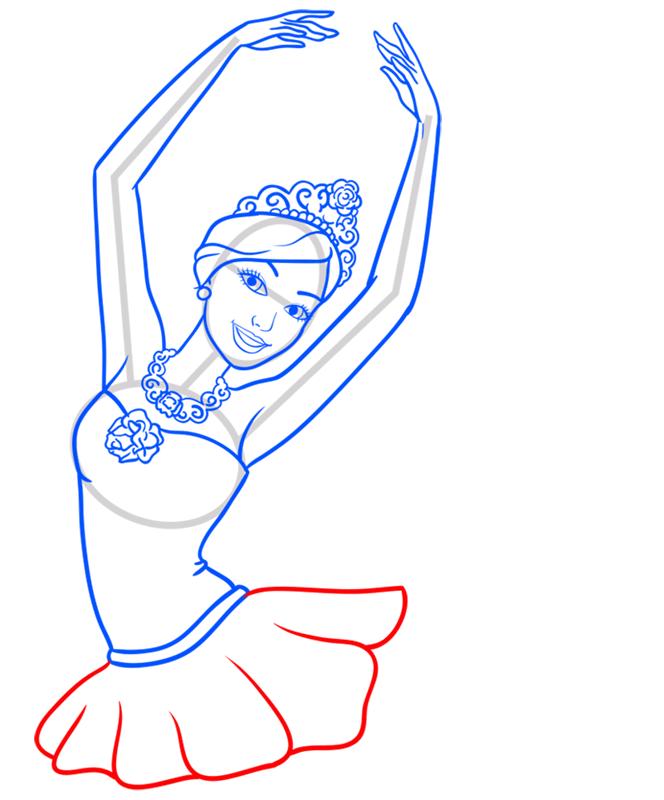 Learn easy to draw kristyn step 08