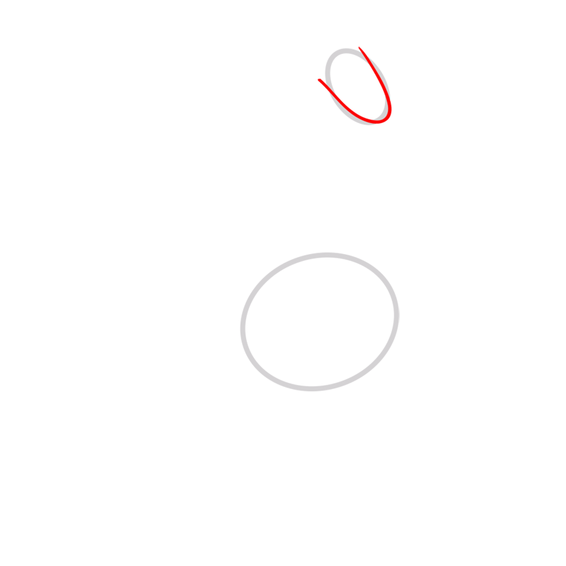 Learn easy to draw lady rainicorn step 02