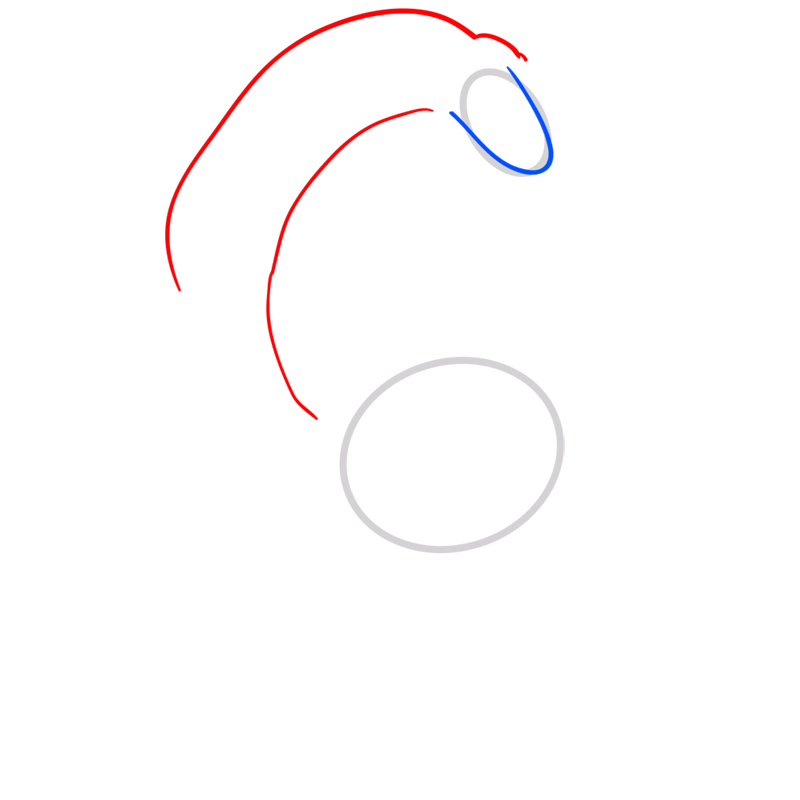 Learn easy to draw lady rainicorn step 03