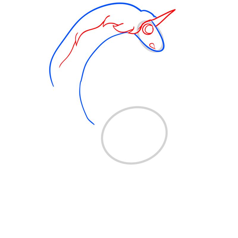 Learn easy to draw lady rainicorn step 04