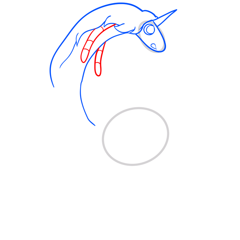 Learn easy to draw lady rainicorn step 05