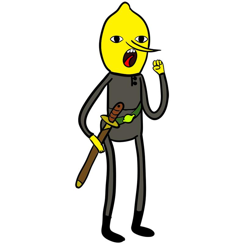 Learn easy to draw lemongrab step 00